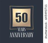 50 years anniversary... | Shutterstock .eps vector #645493711
