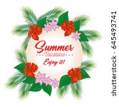enjoy summer design | Shutterstock .eps vector #645493741