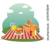 picnic time design | Shutterstock .eps vector #645493849