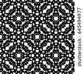 raster monochrome seamless... | Shutterstock . vector #645494977