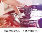 cropped image of automobile...   Shutterstock . vector #645498121
