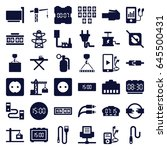cable icons set. set of 36... | Shutterstock .eps vector #645500431