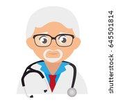 male doctor avatar character   Shutterstock .eps vector #645501814