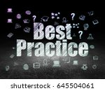 education concept  glowing text ... | Shutterstock . vector #645504061