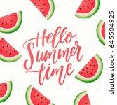 trendy hand lettering poster... | Shutterstock .eps vector #645504925