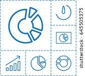 chart icon. set of 6 chart...