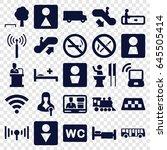 public icons set. set of 25... | Shutterstock .eps vector #645505414