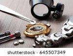 watch battery replacement ... | Shutterstock . vector #645507349