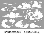 vector smoke special effects... | Shutterstock .eps vector #645508819