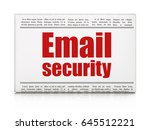 protection concept  newspaper... | Shutterstock . vector #645512221