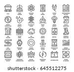 vector set of power and energy... | Shutterstock .eps vector #645512275
