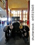 Small photo of Toledo, Spain - March 12, 2017 - Marmon 34 automobile car vehicle in which Spanish political leader and three-time prime minister Eduardo Dato was killed in, Spanish Army Museum in Alcazar de Toledo