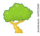 tree isolated illustration on... | Shutterstock .eps vector #645523369
