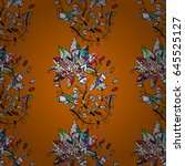 varicolored vector seamless... | Shutterstock .eps vector #645525127
