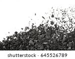 carbon charcoal texture on... | Shutterstock . vector #645526789