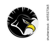 eagle in a spartan helmet.   Shutterstock .eps vector #645527365