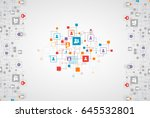 social media vector background. ... | Shutterstock .eps vector #645532801