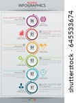 infographic business vertical... | Shutterstock .eps vector #645533674