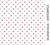seamless polka dot pattern.... | Shutterstock .eps vector #645538921
