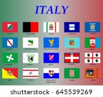 all flags of the regions of... | Shutterstock .eps vector #645539269