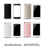 smartphone front and back... | Shutterstock .eps vector #645539341