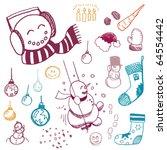 winter doodles | Shutterstock .eps vector #64554442