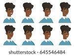 african american cleaner in... | Shutterstock .eps vector #645546484