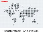 abstract vector map of the... | Shutterstock .eps vector #645546931