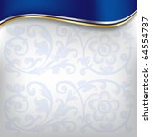 golden wave on blue background   Shutterstock .eps vector #64554787