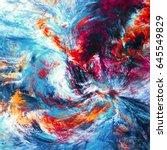 fantasy clouds. bright artistic ... | Shutterstock . vector #645549829