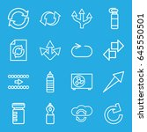 refresh icons set. set of 16... | Shutterstock .eps vector #645550501