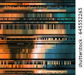 glitch abstract background with ... | Shutterstock .eps vector #645552265