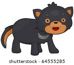 Illustration of a Tasmanian Devil with Eyes Wide Open