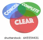 clear concise complete... | Shutterstock . vector #645554431