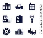 distribution icons set. set of... | Shutterstock .eps vector #645560365