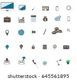 set of business icon finance... | Shutterstock .eps vector #645561895