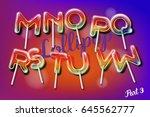 sweet candy lollipop alphabet... | Shutterstock .eps vector #645562777