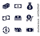 tax icons set. set of 9 tax... | Shutterstock .eps vector #645565969