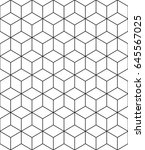 abstract geometric  hexagonal... | Shutterstock . vector #645567025