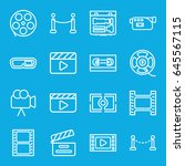 cinema icons set. set of 16... | Shutterstock .eps vector #645567115
