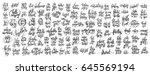 mega set of 100 hand written... | Shutterstock . vector #645569194