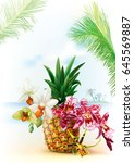 summer tropical background with ...   Shutterstock .eps vector #645569887