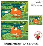 frog in the tropical swamp.... | Shutterstock .eps vector #645570721