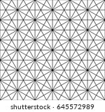 geometric grid pattern. vector... | Shutterstock .eps vector #645572989