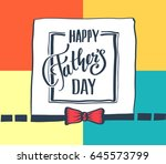 father's day card. vector... | Shutterstock .eps vector #645573799