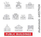 public institutional buildings  ... | Shutterstock .eps vector #645579634