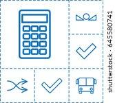 button icon. set of 6 button... | Shutterstock .eps vector #645580741