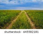 a road going through a... | Shutterstock . vector #645582181
