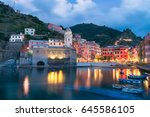 beautiful italian town of... | Shutterstock . vector #645586105
