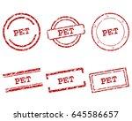 pet stamps | Shutterstock .eps vector #645586657